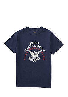 Ralph Lauren Childrenswear Cotton Jersey Graphic Tee Boys 4-7