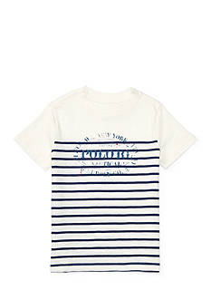 Ralph Lauren Childrenswear Striped Cotton Graphic Tee Boys 4-7