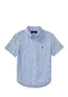 Ralph Lauren Childrenswear Striped Slub Linen-Cotton Shirt Boys 4-7
