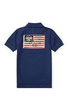 Ralph Lauren Childrenswear Flag-Patch Cotton Mesh Polo Boys 4-7