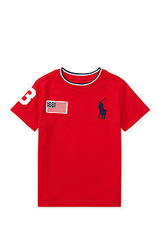 Ralph Lauren Childrenswear Cotton Jersey Crewneck Tee Boys 4-7