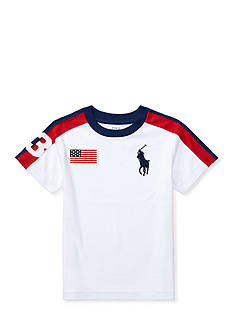Ralph Lauren Childrenswear Big Pony Cotton Crewneck Tee Boys 4-7