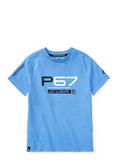 Ralph Lauren Childrenswear Performance Jersey Graphic Tee Boys 4-7