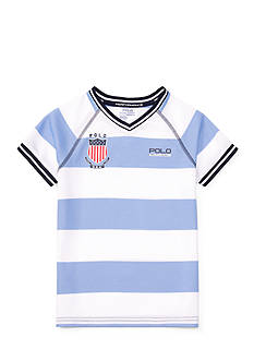 Ralph Lauren Childrenswear Striped Performance V-Neck Tee Boys 4-7