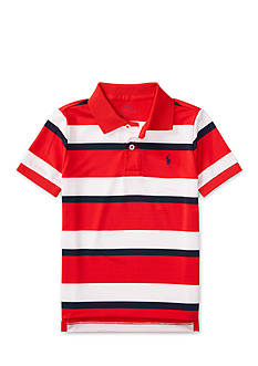 Ralph Lauren Childrenswear Striped Performance Lisle Polo Boys 4-7
