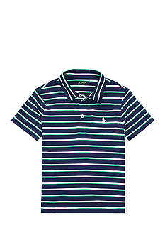 Ralph Lauren Childrenswear Striped Performance Polo Shirt Boys 4-7