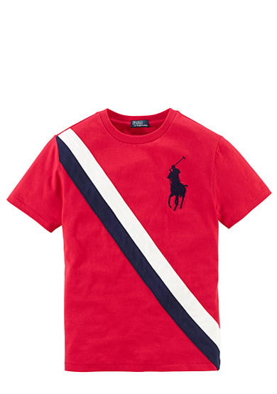 Ralph Lauren Childrenswear Preppy Banner Stripe Tee Boys 8-20