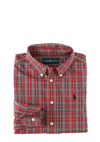 Ralph Lauren Childrenswear Plaid Poplin Shirt Boys 8-20