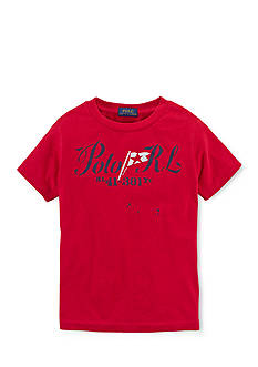 Ralph Lauren Childrenswear Short Sleeve Graphic Tee Shirt Boys 8-20