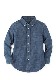 Ralph Lauren Childrenswear Cotton Chambray Oxford Shirt Boys 8-20