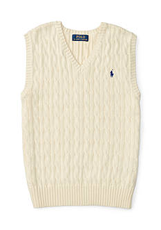 Ralph Lauren Childrenswear Cable-Knit Cotton Sweater Vest Boys 8-20
