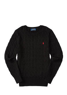 Ralph Lauren Childrenswear Cable-Knit Cotton Sweater Boys 8-20