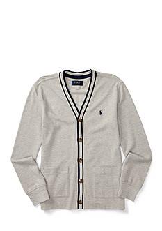 Polo Ralph Lauren Solid Mesh Cardigan Boys 8-20