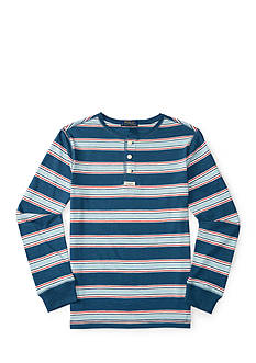 Ralph Lauren Childrenswear Striped Jersey Henley Top Boys 8-20