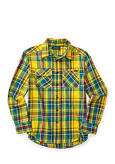 Ralph Lauren Childrenswear Plaid Twill Matlock Shirt Boys 8-20
