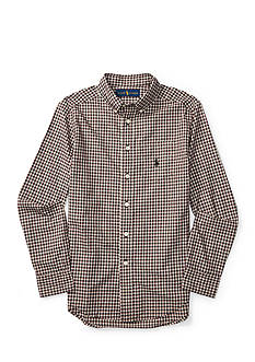 Ralph Lauren Childrenswear Cotton Poplin Pocket Shirt Boys 8-20