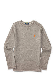 Ralph Lauren Childrenswear Waffle-Knit Cotton-Blend Tee Boys 8-20