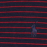 Boys T-shirts: French Navy Blue Ralph Lauren Childrenswear Waffle-Knit Cotton Henley Boys 8-20