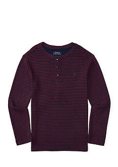 Ralph Lauren Childrenswear Waffle-Knit Cotton Henley Boys 8-20