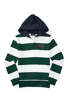Ralph Lauren Childrenswear Striped Graphic Hoodie Boys 8-20