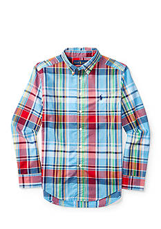 Ralph Lauren Childrenswear Plaid Cotton Poplin Shirt Boys 8-20