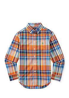 Ralph Lauren Childrenswear Plaid Cotton Poplin Shirt Boys 8-20