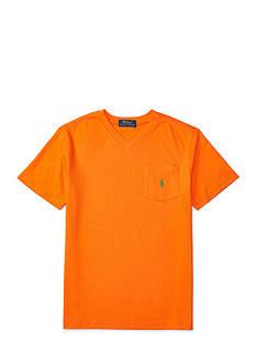 Ralph Lauren Childrenswear Cotton V-Neck Pocket Tee Boys 8-20