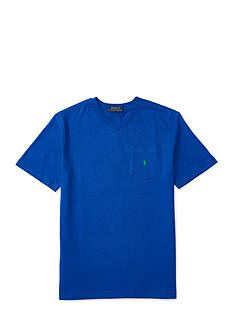 Ralph Lauren Childrenswear Cotton V-Neck Pocket Tee Boys 8-20