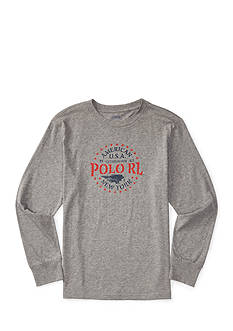Ralph Lauren Childrenswear Cotton Long Sleeve Graphic Tee Boys 8-20