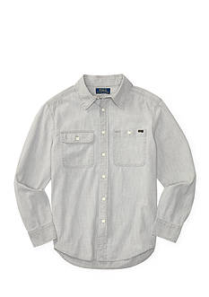 Ralph Lauren Childrenswear Cotton Chambray Workshirt Boys 8-20