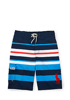 Ralph Lauren Childrenswear Kailua Striped Swim Trunk Boys 8-20