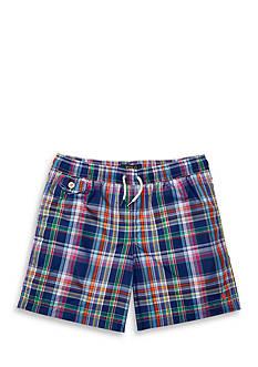 Ralph Lauren Childrenswear Plaid Swim Trunk Boys 8-20