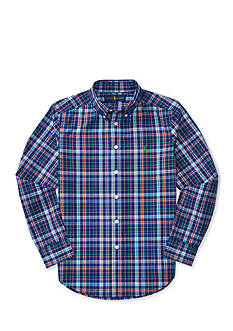 Ralph Lauren Childrenswear Plaid Long Sleeve Button Down Shirt Boys 8-20