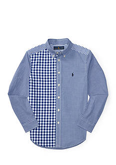 Ralph Lauren Childrenswear Patchwork Cotton Poplin Shirt Boys 8-20