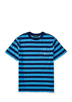 Ralph Lauren Childrenswear Textured Jersey Short Sleeve Pocket Tee Boys 8-20
