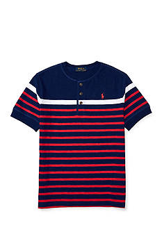 Ralph Lauren Childrenswear Jersey Short Sleeve Henley Top Boys 8-20