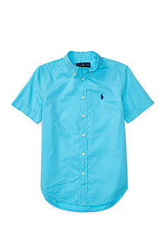 Ralph Lauren Childrenswear Lightweight Twill Short Sleeve Button Down Shirt Boys 8-20