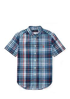 Ralph Lauren Childrenswear Plaid Slub Linen-Cotton Shirt Boys 8-20