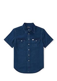 Ralph Lauren Childrenswear Cotton Oxford Western Shirt Boys 8-20