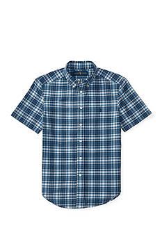 Ralph Lauren Childrenswear Indigo Madras Cotton Shirt Boys 8-20