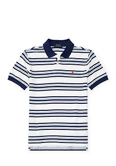 Ralph Lauren Childrenswear Striped Cotton Mesh Polo Shirt Boys 8-20