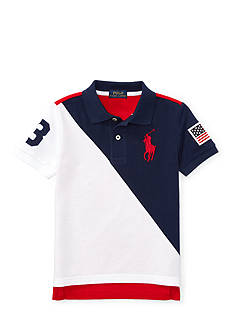 Ralph Lauren Childrenswear Color-Blocked Cotton Mesh Polo Boys 8-20