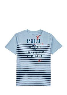 Ralph Lauren Childrenswear Striped Cotton Graphic Tee Boys 8-20