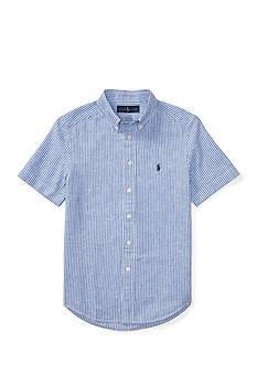 Ralph Lauren Childrenswear Striped Slub Linen-Cotton Shirt Boys 8-20