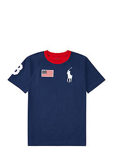 Ralph Lauren Childrenswear Big Pony Cotton Crewneck Tee Boys 8-20