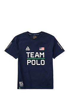 Ralph Lauren Childrenswear Performance Jersey Graphic Tee Boys 8-20