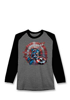 Hybrid™ Captain America Long Sleeve Tee Boys 4-7