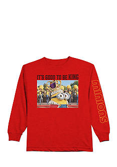 minions™ Long Sleeve 'It's Good To Be King' Character Tee Boys 4-7