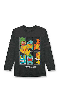 Hybrid™ Pokemon Pikas Crew Long Sleeve Tee Boys 4-7