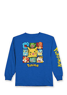 Pokemon Long Sleeve Character Square Tee Boys 4-7